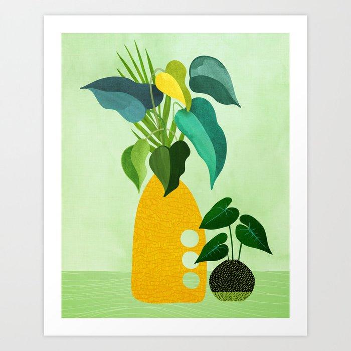 Tropical Siblings / Plant Study Series Art Print