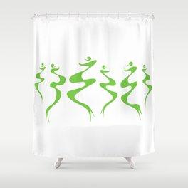 Dancers green Shower Curtain