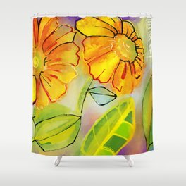 Sunflowers in the Morning Shower Curtain