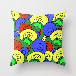 Summer wave pattern  Throw Pillow