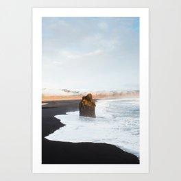 Black Sand Beach, South Iceland Art Print