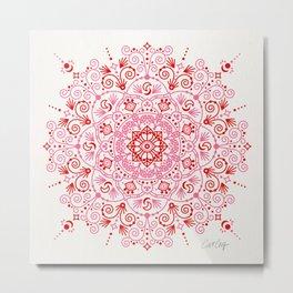 Moroccan Mandala – Valentine Palette Metal Print