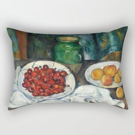 """Paul Cezanne """"Still Life with Cherries and Peaches"""" Rectangular Pillow"""