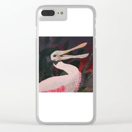 Laughing spoonbill Clear iPhone Case