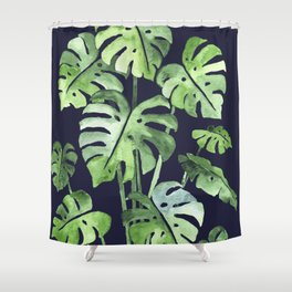Delicate Monstera Blue #society6 Shower Curtain