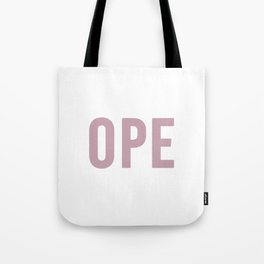 OPE Pink Text Tote Bag