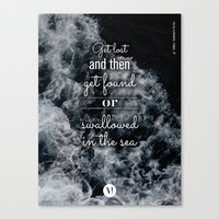 coldplay Canvas Prints featuring c - Sea Waves Lyrics Posters - Coldplay by emme