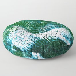 Hummingbird Abstract Painting Floor Pillow