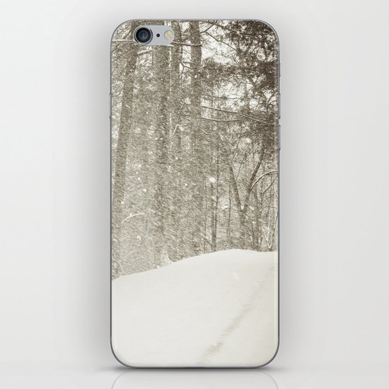 Stopping by a Snowy Woods iPhone & iPod Skin