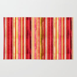 Colorful Stripe Pattern Yellow Green Pink Red Rug
