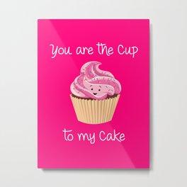 My cupcake - Pink version Metal Print