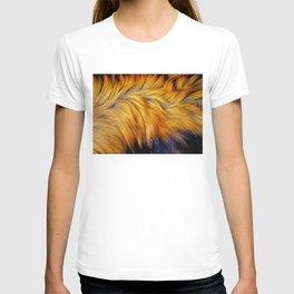 Cool brown textured animal horse tail fur design T-shirt