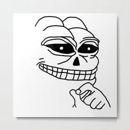 Pepe The Frog Skeleton Halloween Creepy skull gothic Metal Print