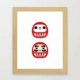 Sloth Daruma Doll Framed Art Print