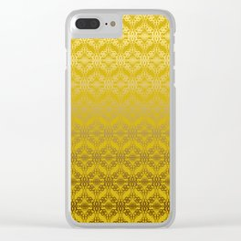 Yellow weaves pattern Clear iPhone Case