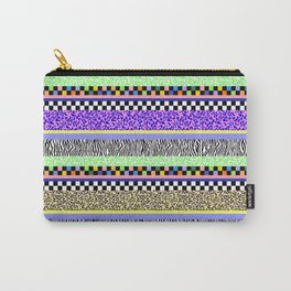Leopard Zebra Check Stripe Mixed Pattern - Horizontal I Carry-All Pouch