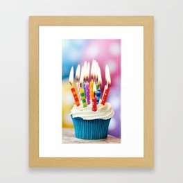 Birthday cake Framed Art Print