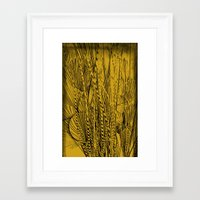 plants Framed Art Prints featuring plants by White Ghöst