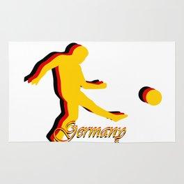 Germany German Soccer Player Logo in German Flag Colors Rug