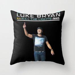Luke Bryant Kill The Light Tour Throw Pillow