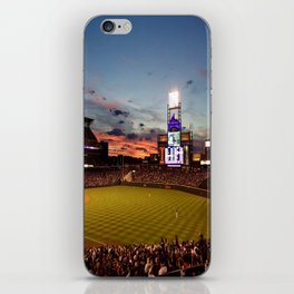Denver Rockies 7, LA Dodgers 5, and Denver with a Beautiful Night Sky.  iPhone Skin
