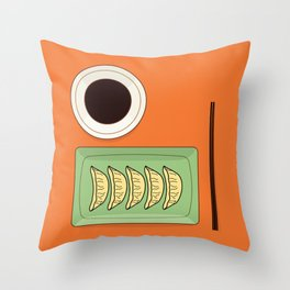 Dumplings Throw Pillow