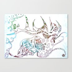 Deer Odd Canvas Print