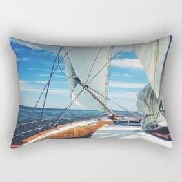 Sweet Sailing - Sailboat on the Chesapeake Bay in Annapolis, Maryland Rectangular Pillow