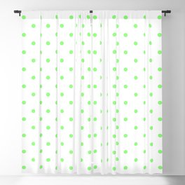 Dotted (Lime & White Pattern) Blackout Curtain