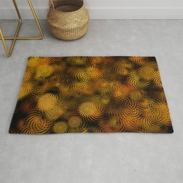 Copper Spiral Abstract Rug