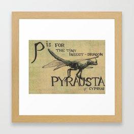 Alphabestiary P - Pyrausta Framed Art Print