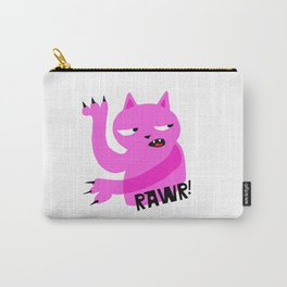Pink Rawr Cat Carry-All Pouch