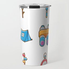 Camping Icon Travel Mug