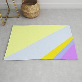Abstract Minimal Color - Provence - Lavender at sunset Rug