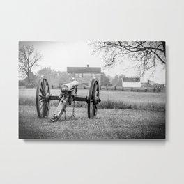 Melancholy Cannon Henry House Manassas National Battlefield Park Virginia Civil War Battelground Metal Print