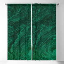 malachite green marbleized effect marble painting Blackout Curtain