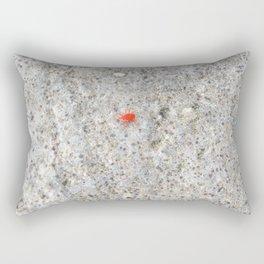 Watercolor Mite, Red Mite 01, Hauganes, Iceland Rectangular Pillow