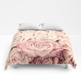 Some people grumble I Floral rose roses flowers pink Comforters