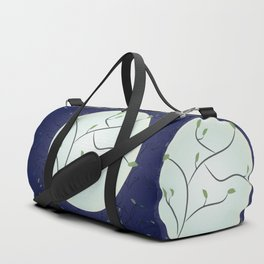 Full Moon With Leaves (Blue) Duffle Bag