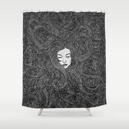 Girl's Hair Shower Curtain