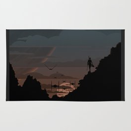 Twilight Of Darkness BLUE Rug
