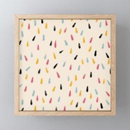 Abstract Colorful Retro Colored Rain Drops - Imugi Framed Mini Art Print