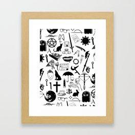 Buffy Symbology, Black Framed Art Print