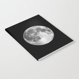 Full Moon print black-white photograph new lunar eclipse poster bedroom home wall decor Notebook
