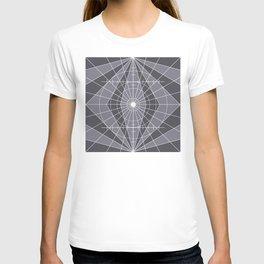 Monochrome Minimalist Geometric Lines Design T-shirt