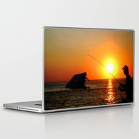 fishing Laptop & iPad Skins featuring Fishing  by PSimages