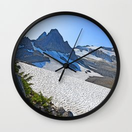 SUMMER'S LAST SNOWMELT WATER Wall Clock