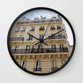 Paris France Downtown Wall Clock