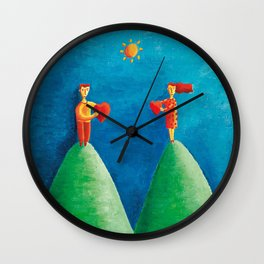 Love from  Distance Wall Clock