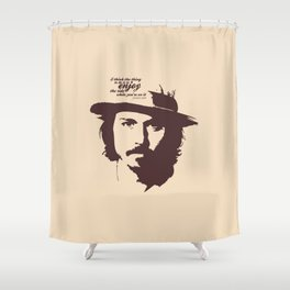 Lab No. 4 - Johnny Depp Motivational quotes Poster Shower Curtain